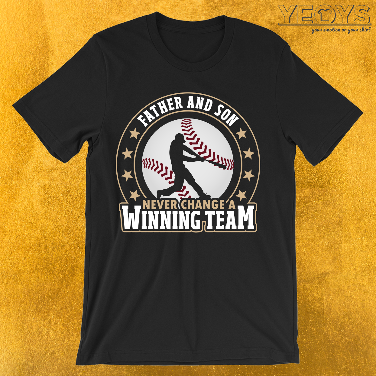 Father And Son Winning Team Baseball T-Shirt