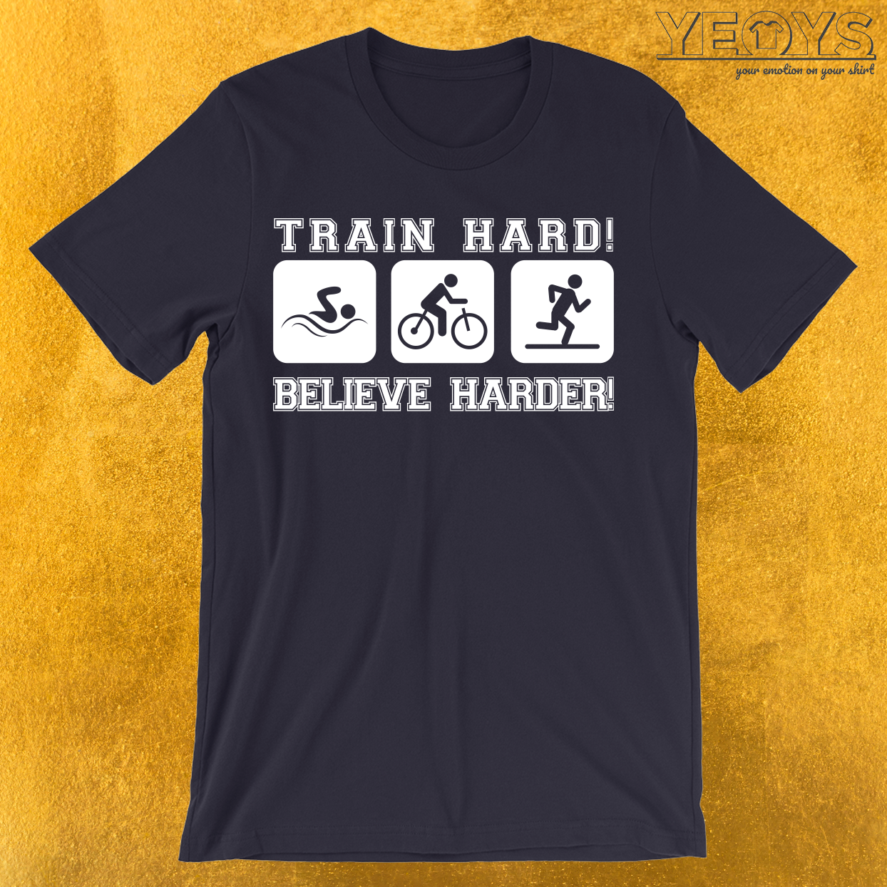 Triathlon Train Hard T-Shirt