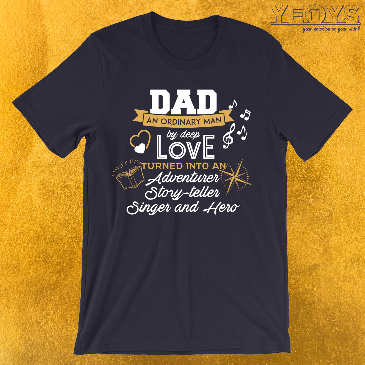 Ordinary Men With Love Turned Into Dad T-Shirt