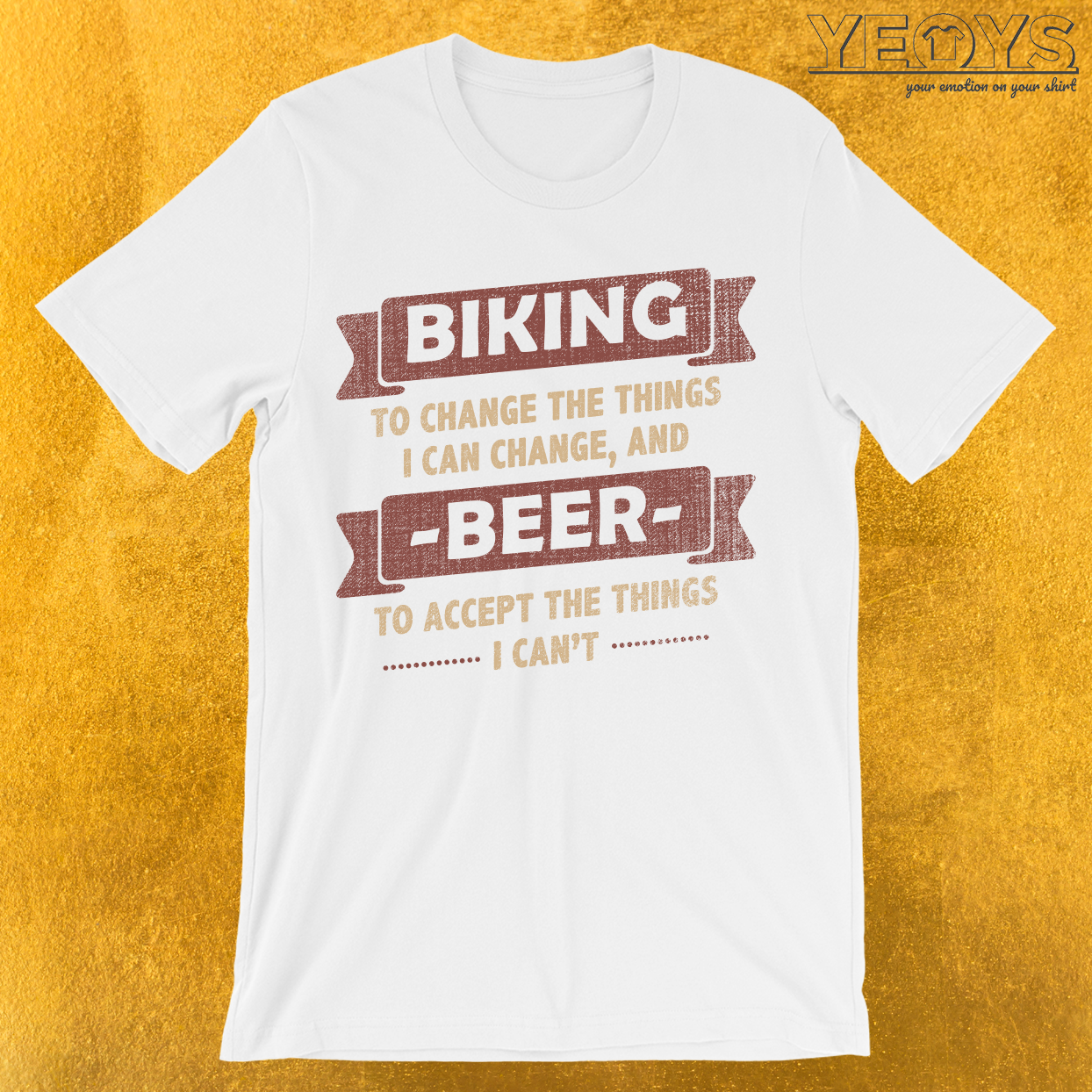 Biking to Change Beer To Accept T-Shirt