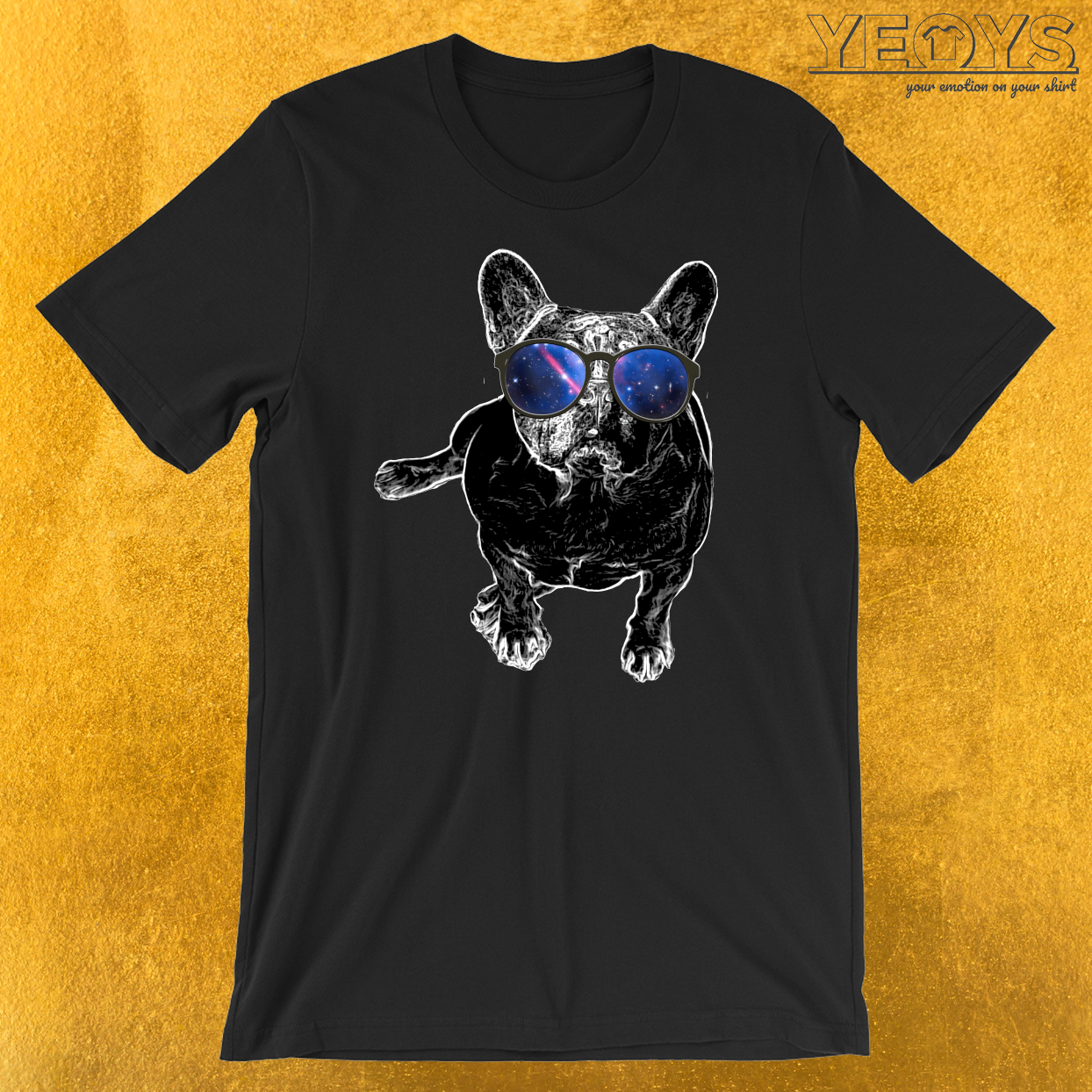 Pug Nerdy Glasses Galaxy T-Shirt