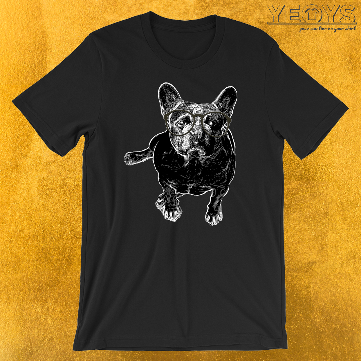 Pug Nerdy Glasses T-Shirt