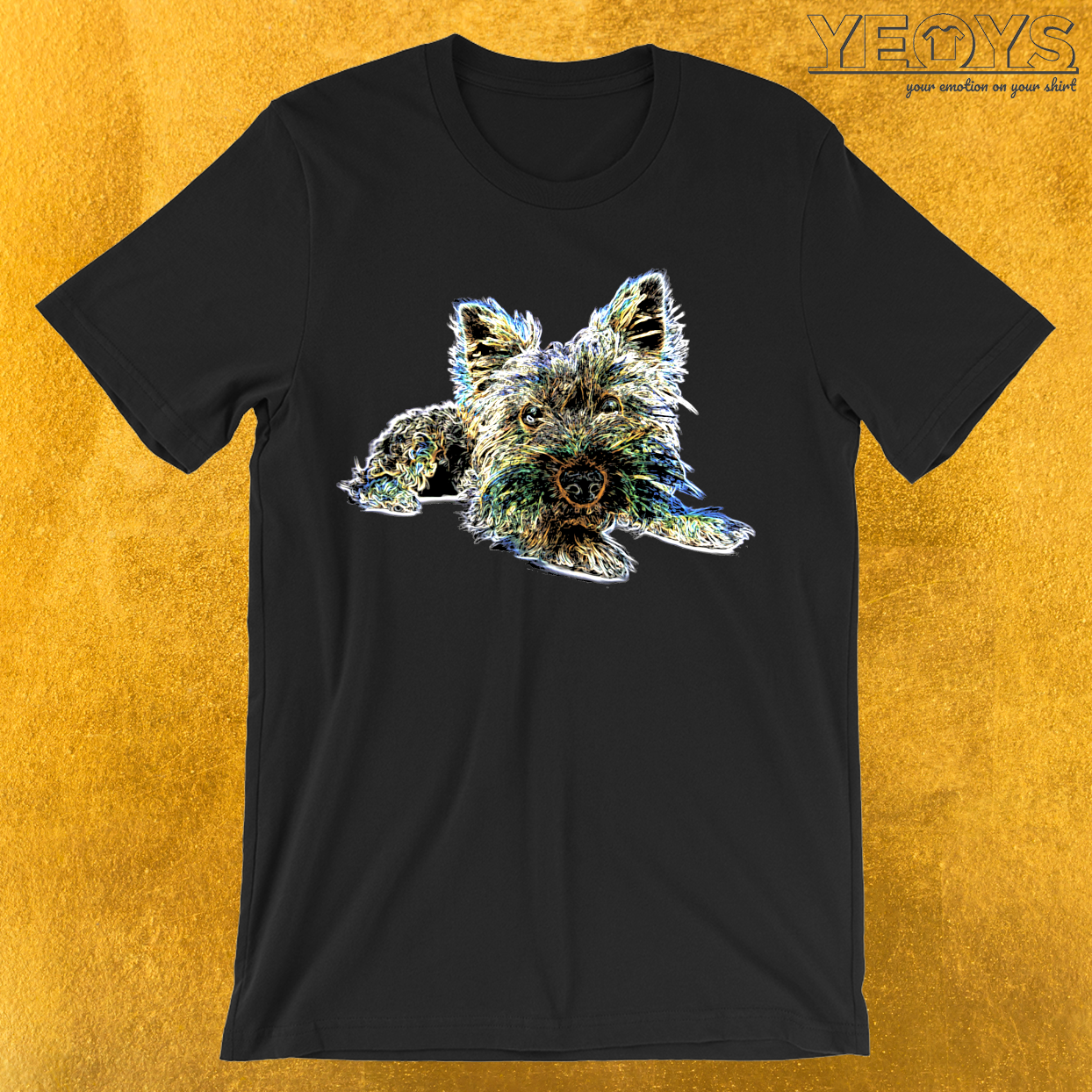 Colorful Yorkshire Terrier T-Shirt
