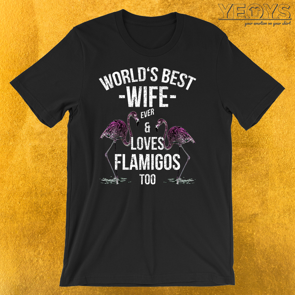 Flamingo Worlds Best Wife T-Shirt