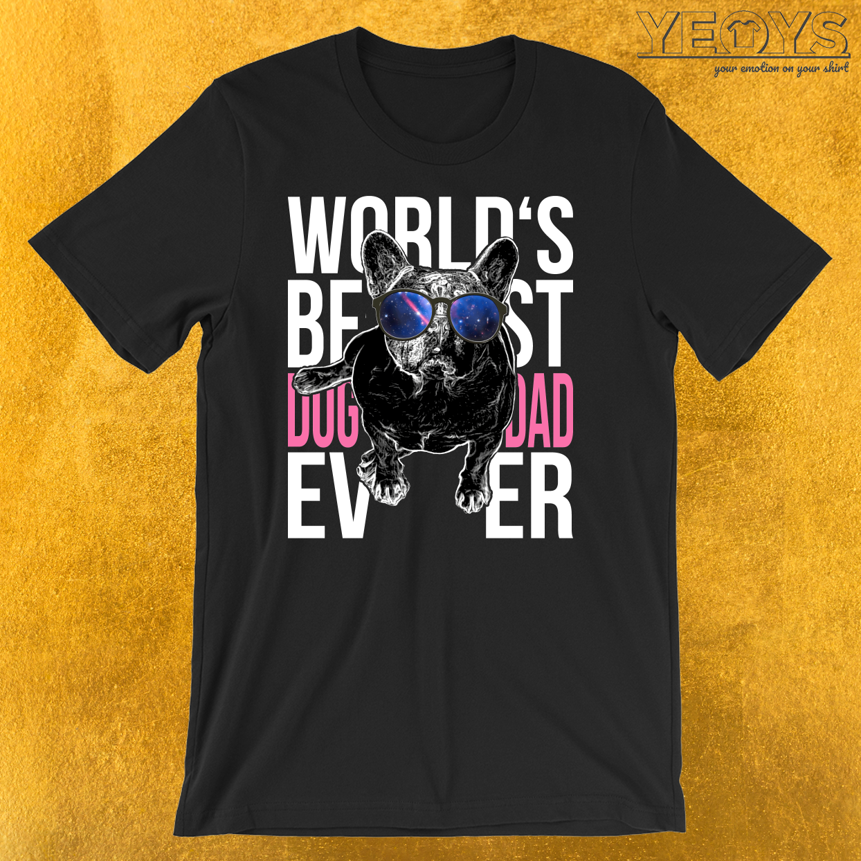 Worlds Best Dog Dad Pug T-Shirt