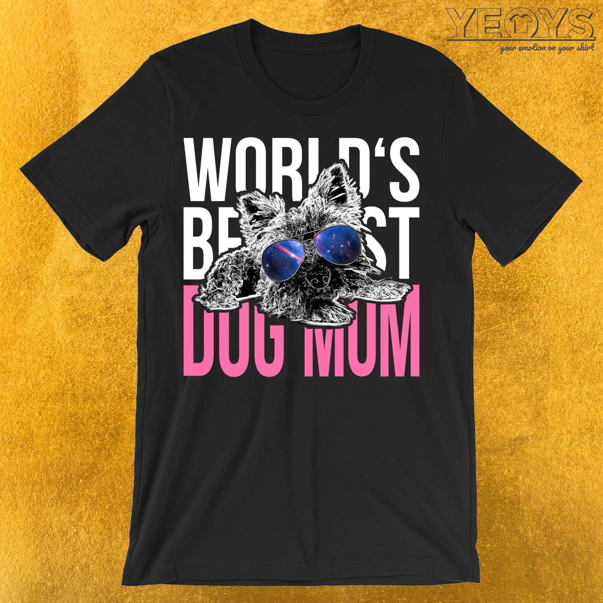 World's Best Dog Mom Yorkshire Terrier T-Shirt