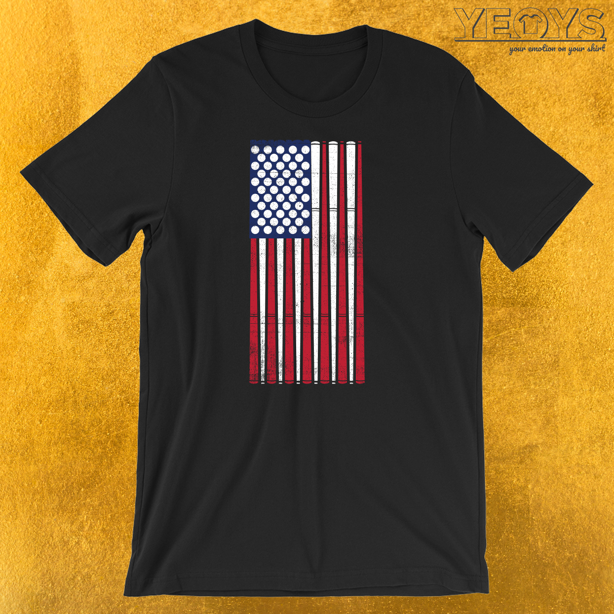 USA Flag Billard T-Shirt