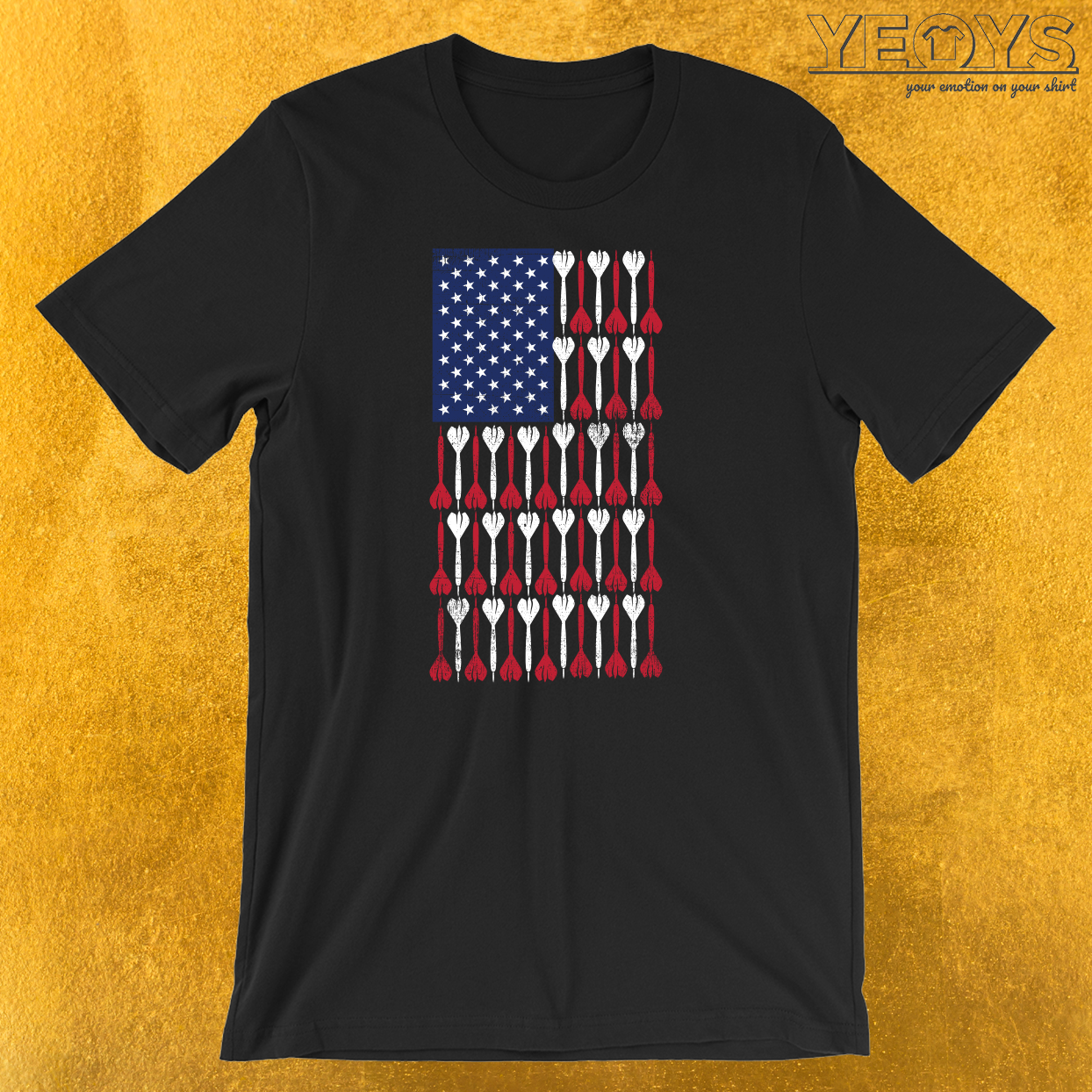 USA Flag Darts T-Shirt