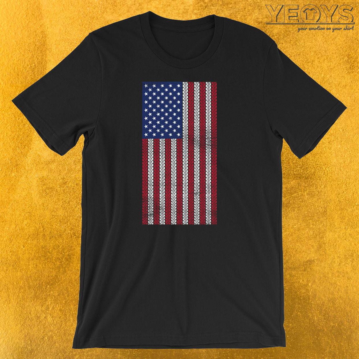 USA Flag Motorbike T-Shirt