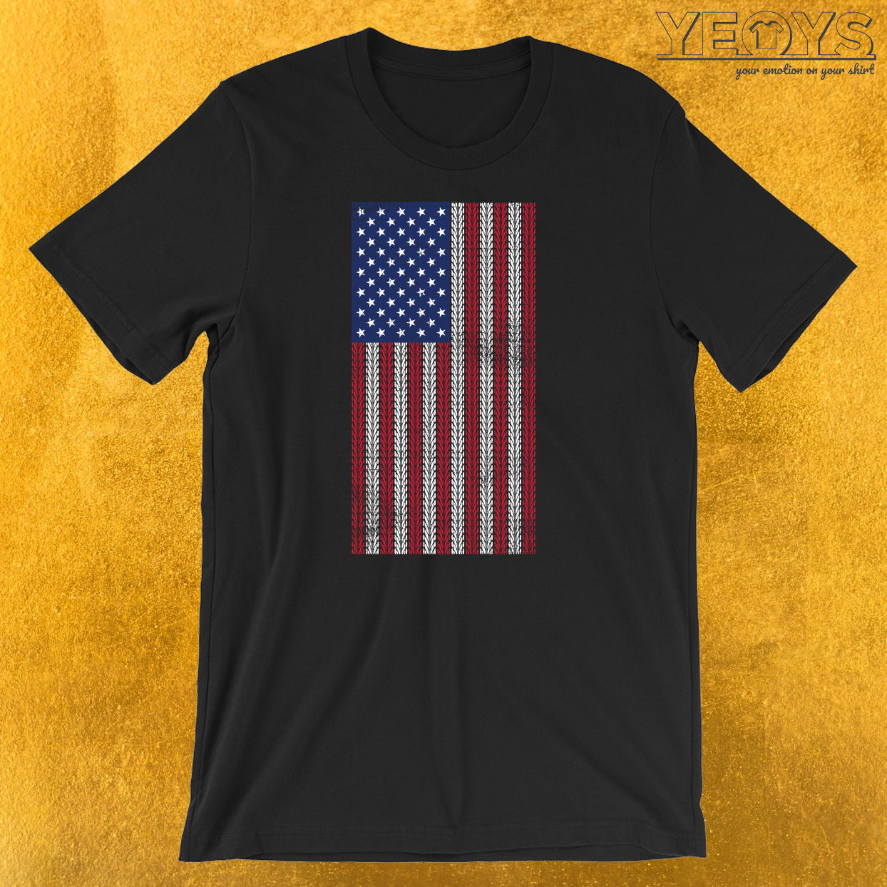 USA Flag Mountainbike T-Shirt