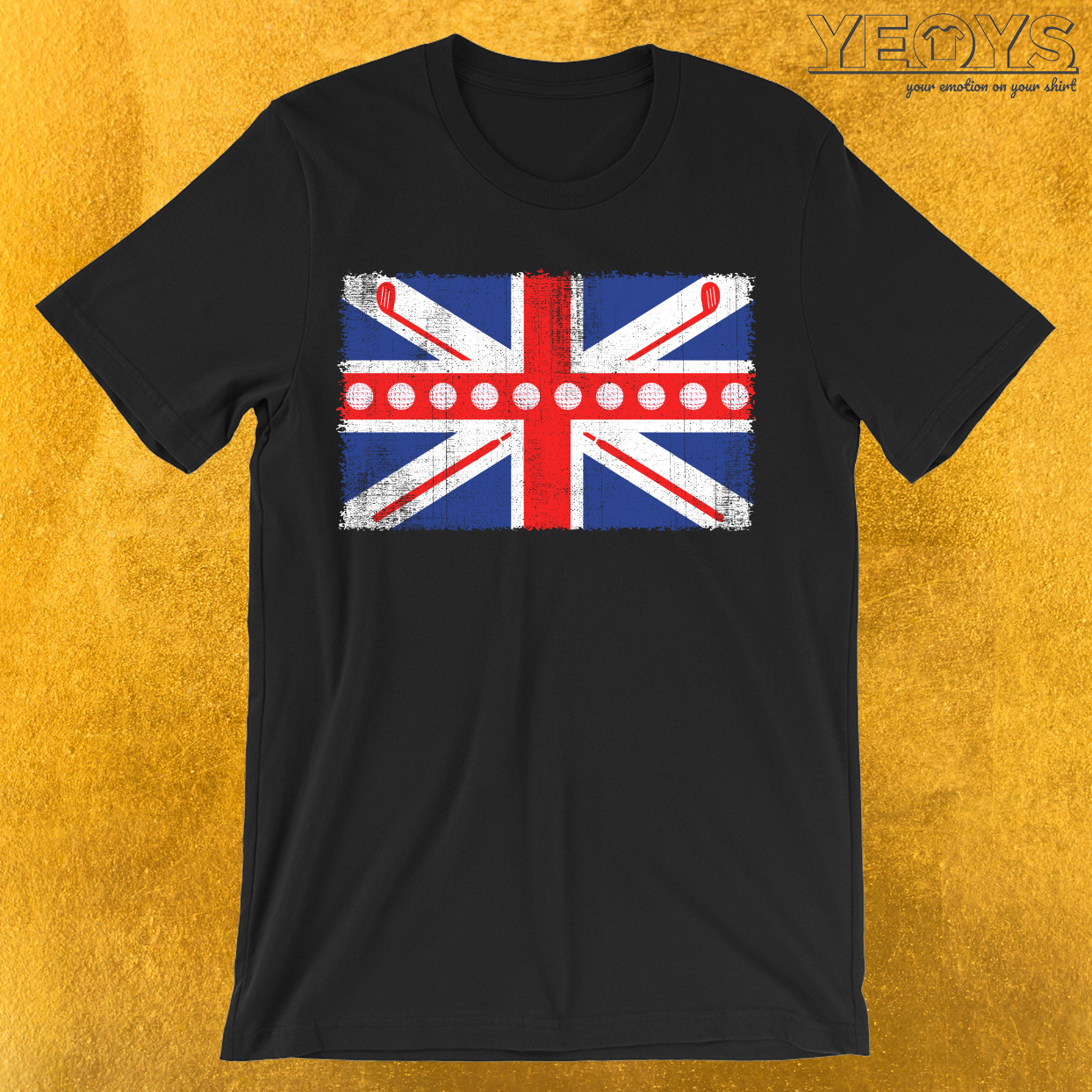 UK Flag Golf T-Shirt