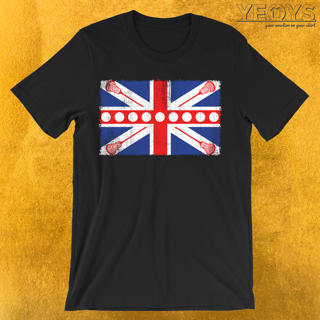 UK Flag Lacrosse T-Shirt