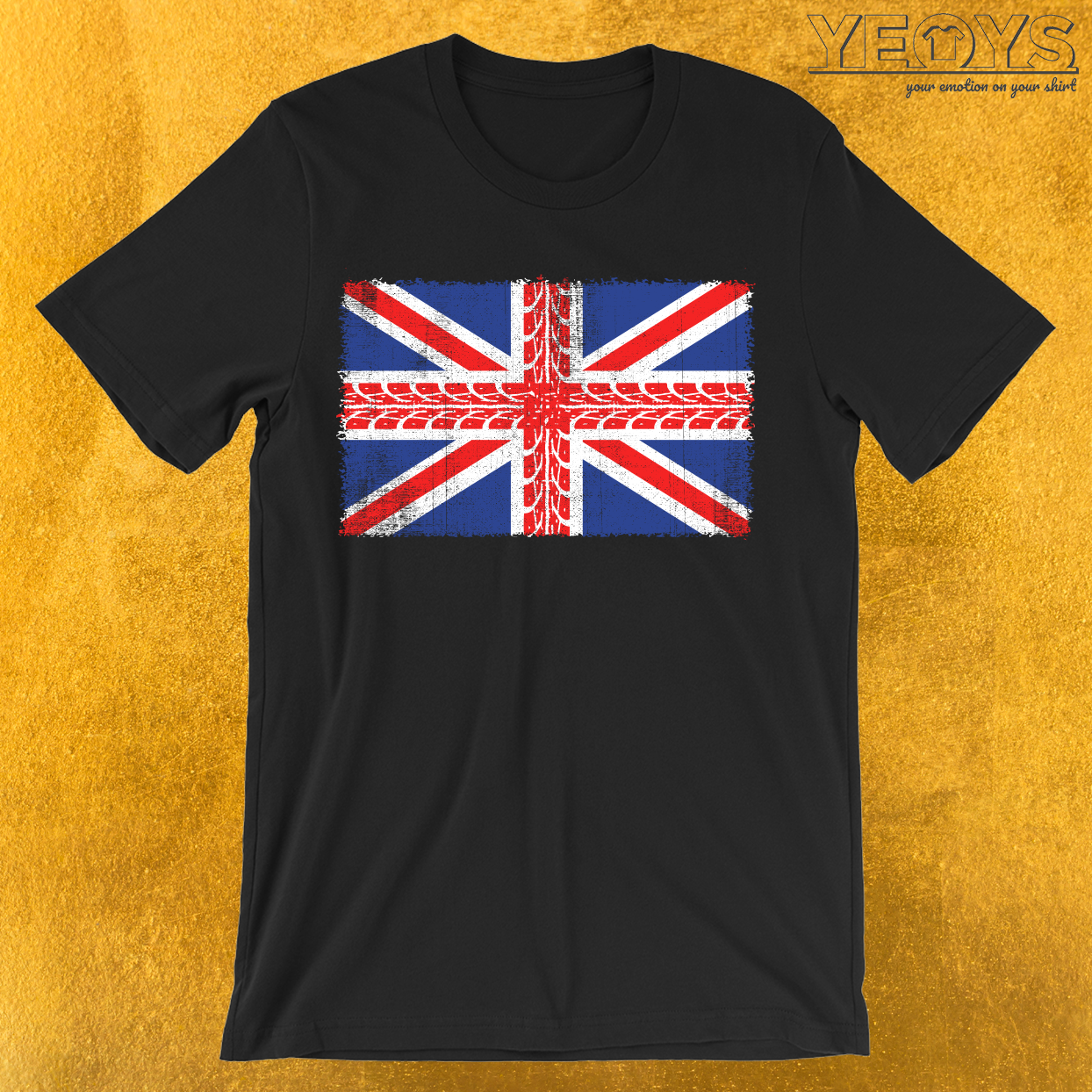 UK Flag Motorbike T-Shirt