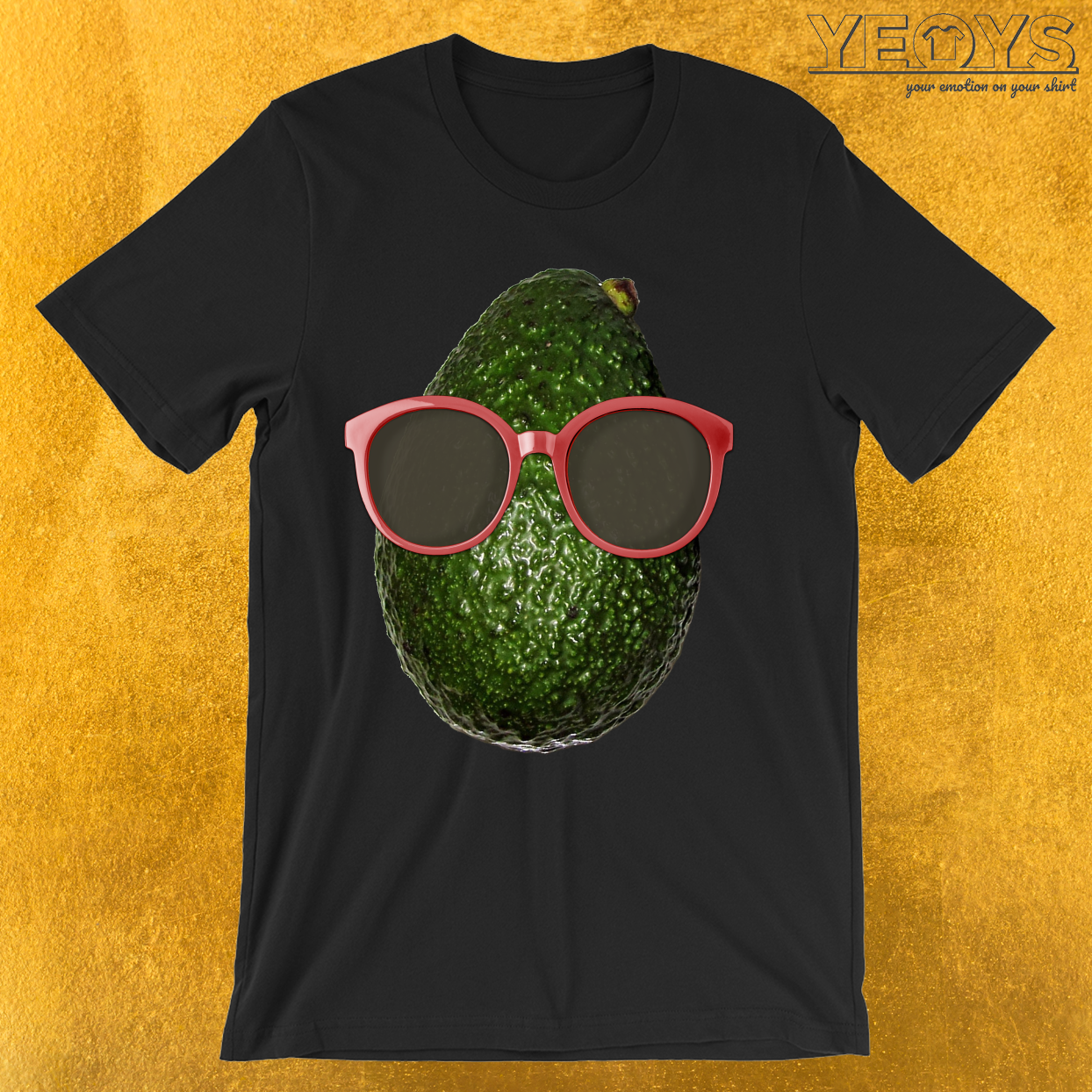 Avocado Wearing Sunglasses T-Shirt