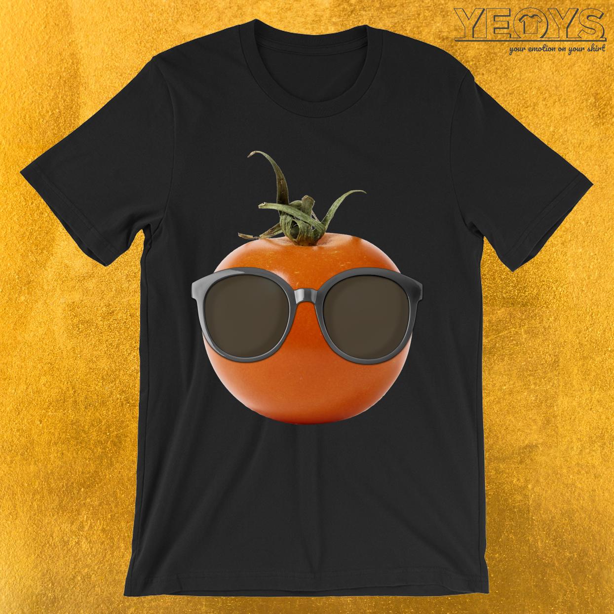 Cool Tomato Wearing Sunglasses T-Shirt