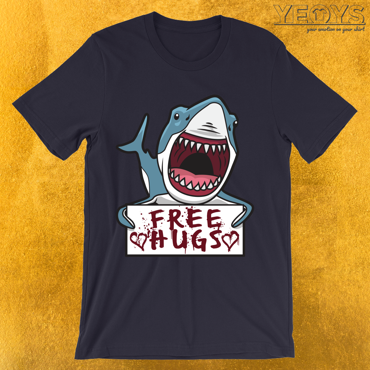 Shark Giving Free Hugs T-Shirt