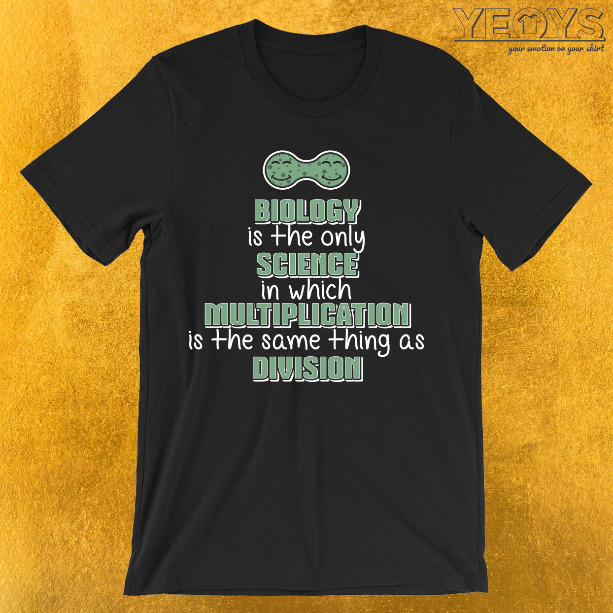 Biology Science Multiplication Division T-Shirt