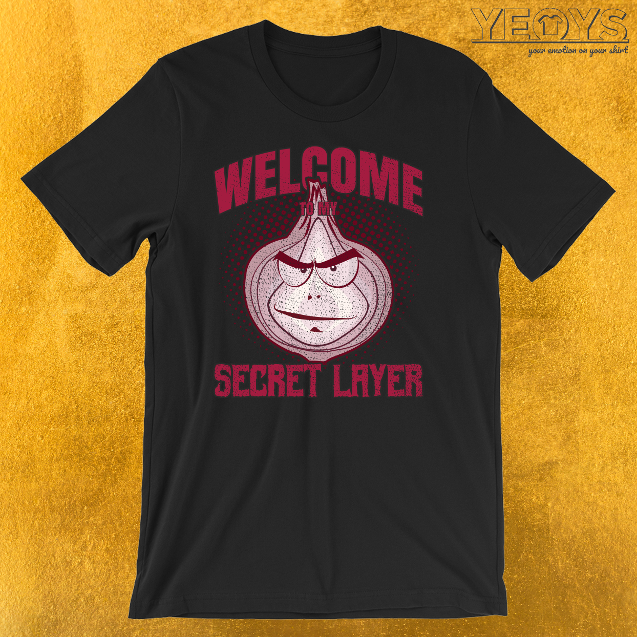 Onion Baddie Halloween Costume Secret Layer T-Shirt