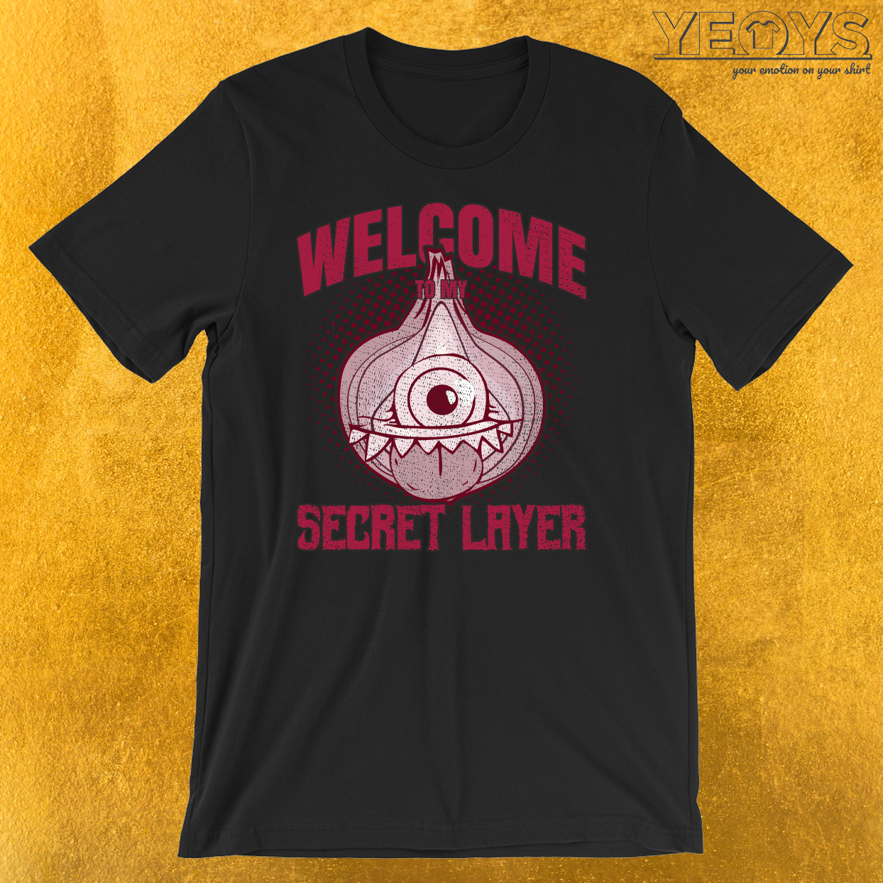 Onion Monster Halloween Costume Secret Layer T-Shirt