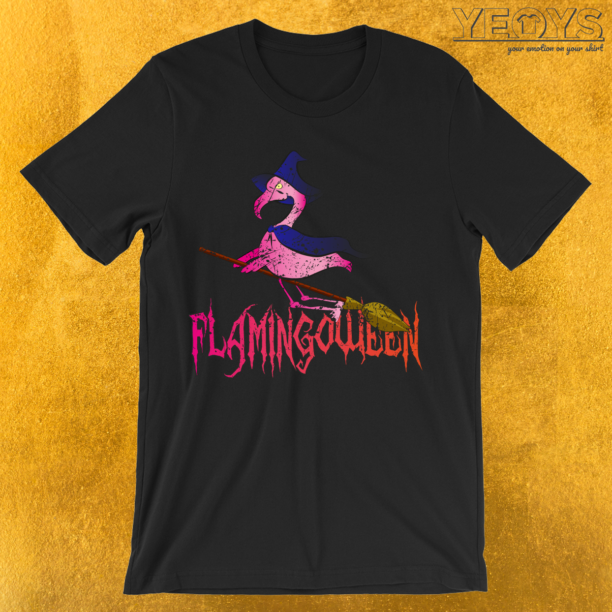 Flamingoween Flaminog Halloween Costume T-Shirt