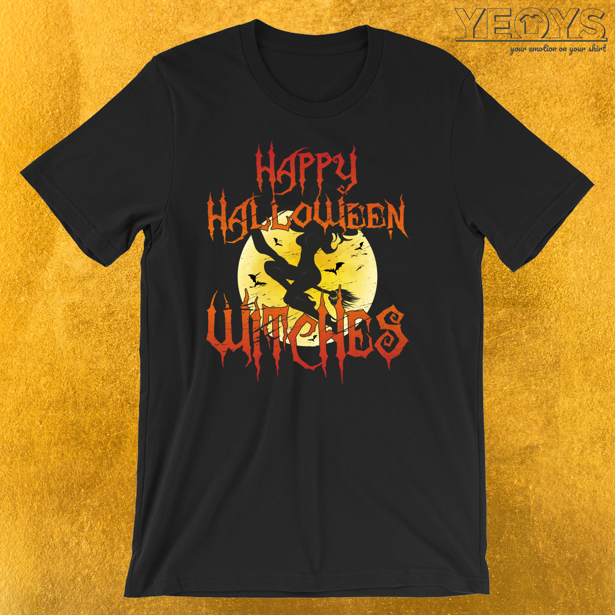 Sexy Happy Halloween Witches T-Shirt
