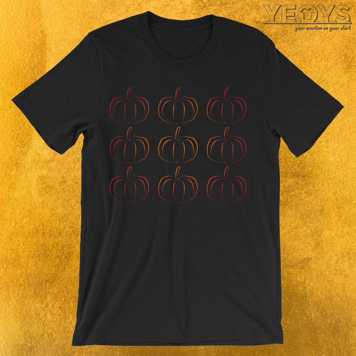 Pumpkin Jack-O-Lantern Silhouette T-Shirt