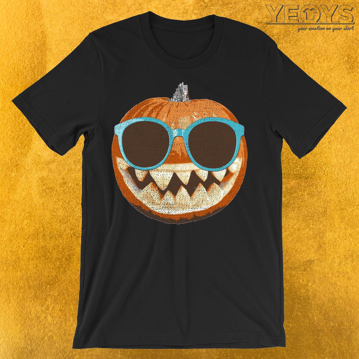 Jack-O-Lantern Pumpkin Sunglasses T-Shirt