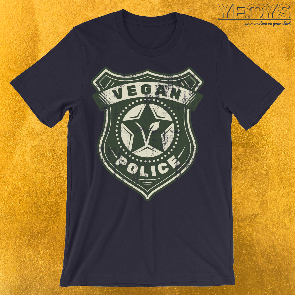 Vegan Police Badge T-Shirt