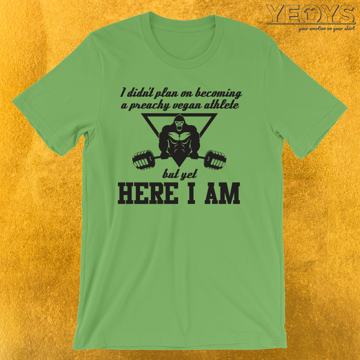 Preachy Vegan Athlete Gorilla T-Shirt