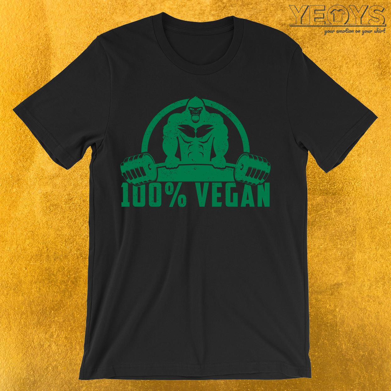 100% Vegan AF Muscle Gorilla T-Shirt