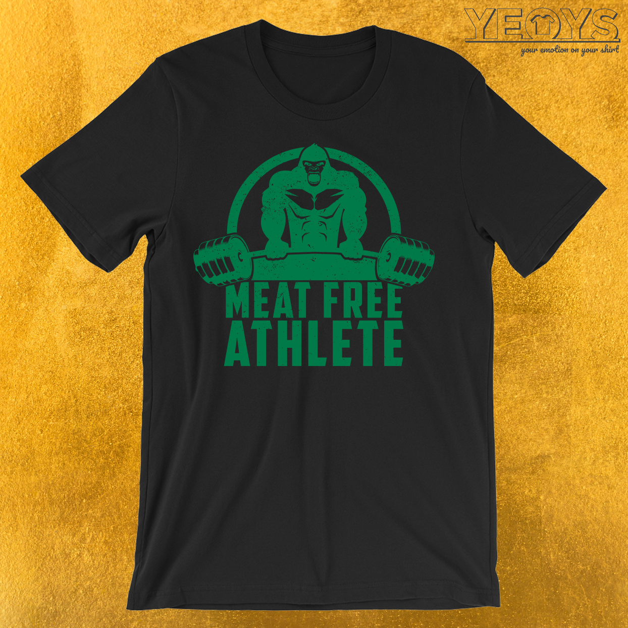 Meat Free Athlete Vegan Gorilla T-Shirt