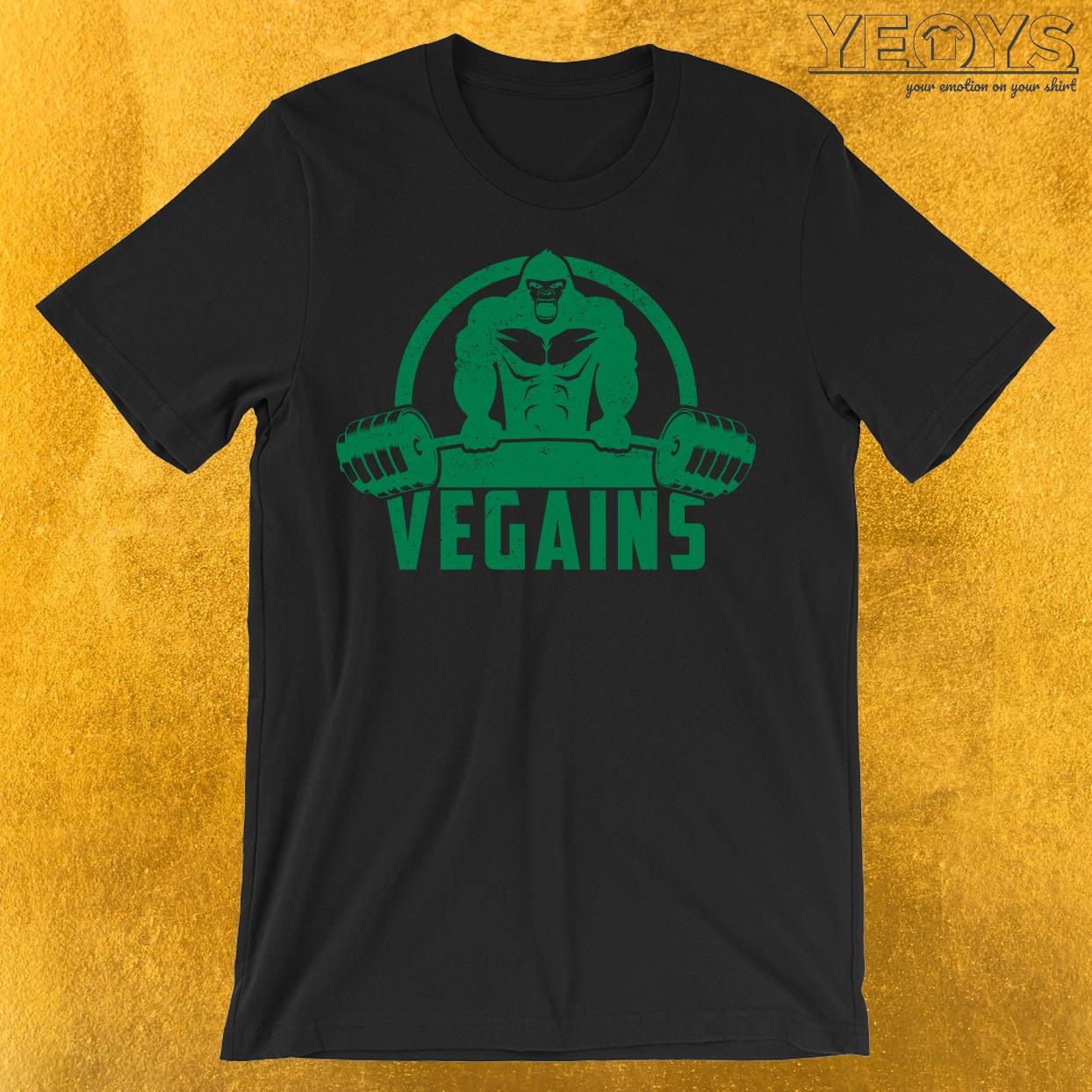 Vegains Vegan Muscle Gorilla T-Shirt