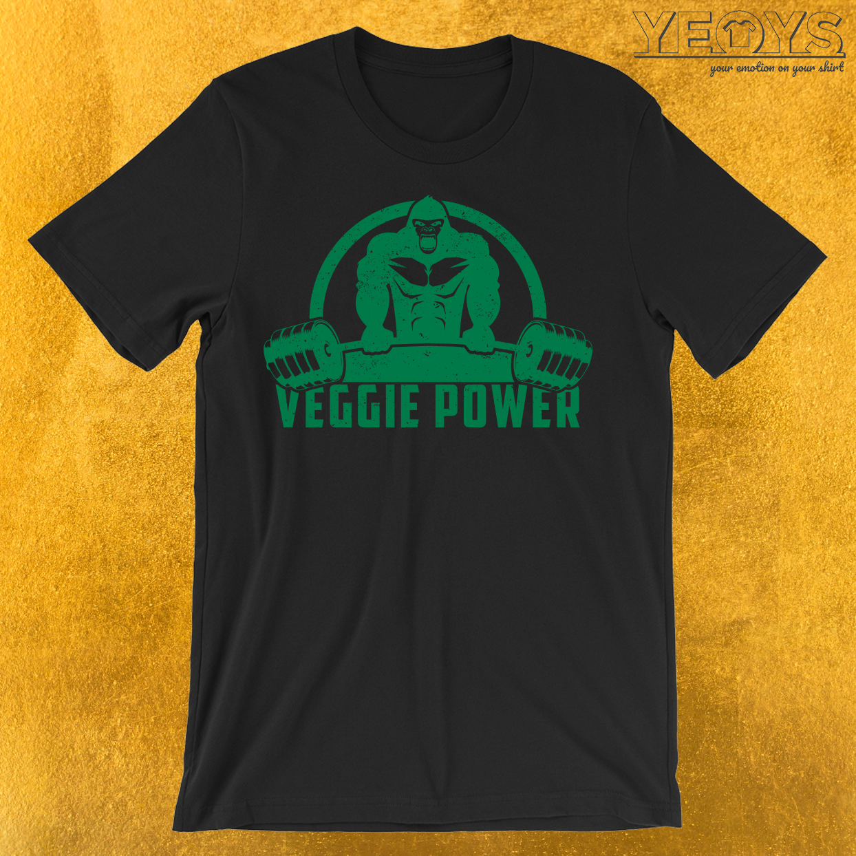 Veggie Power Vegan Muscle Gorilla T-Shirt