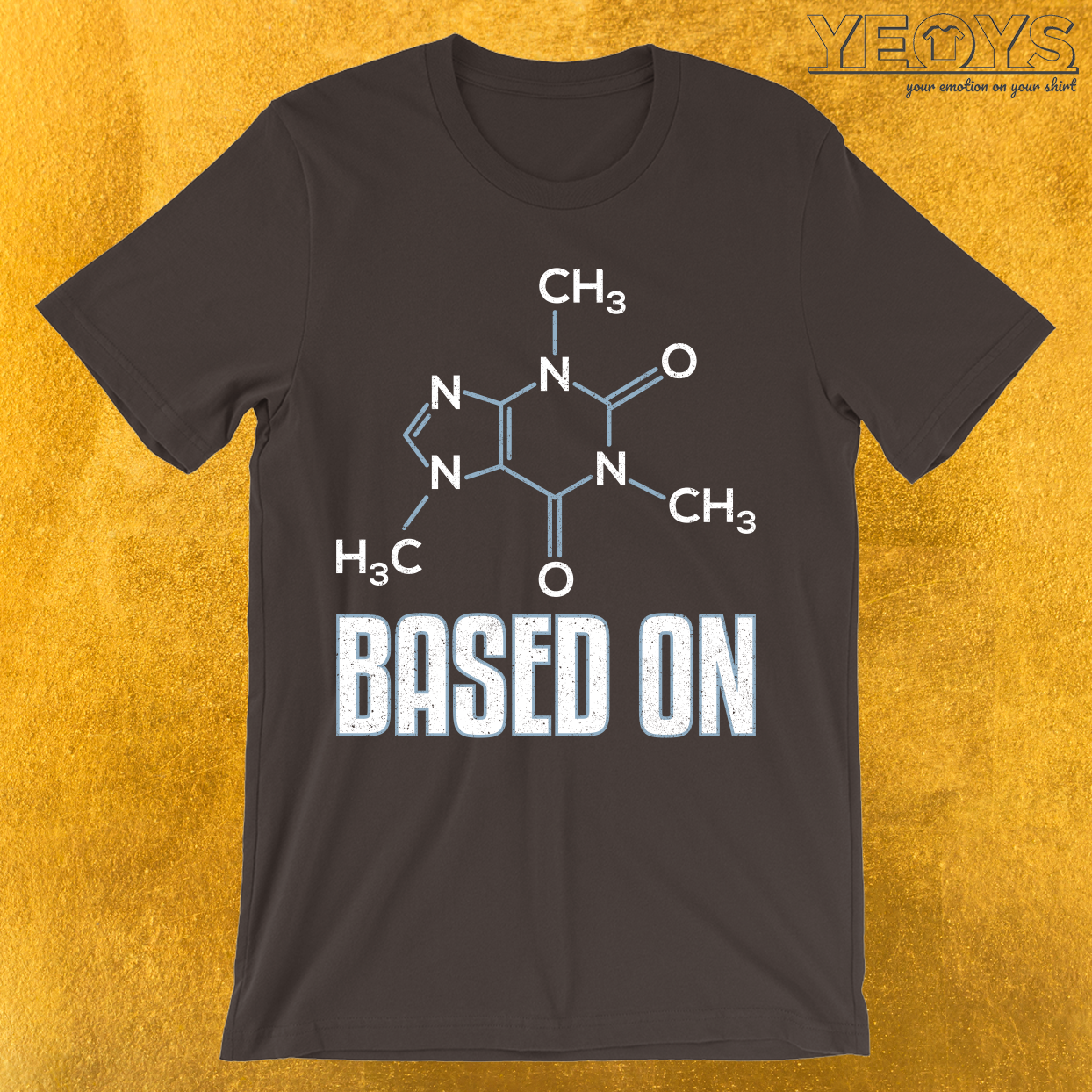 Based On Caffeine Molecule T-Shirt