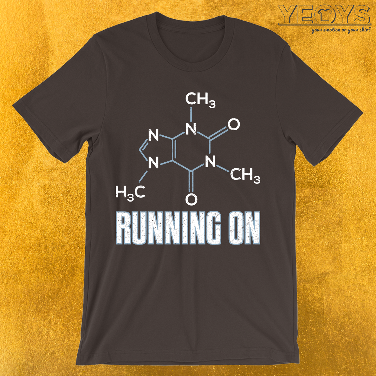 Running On Caffeine Molecule T-Shirt