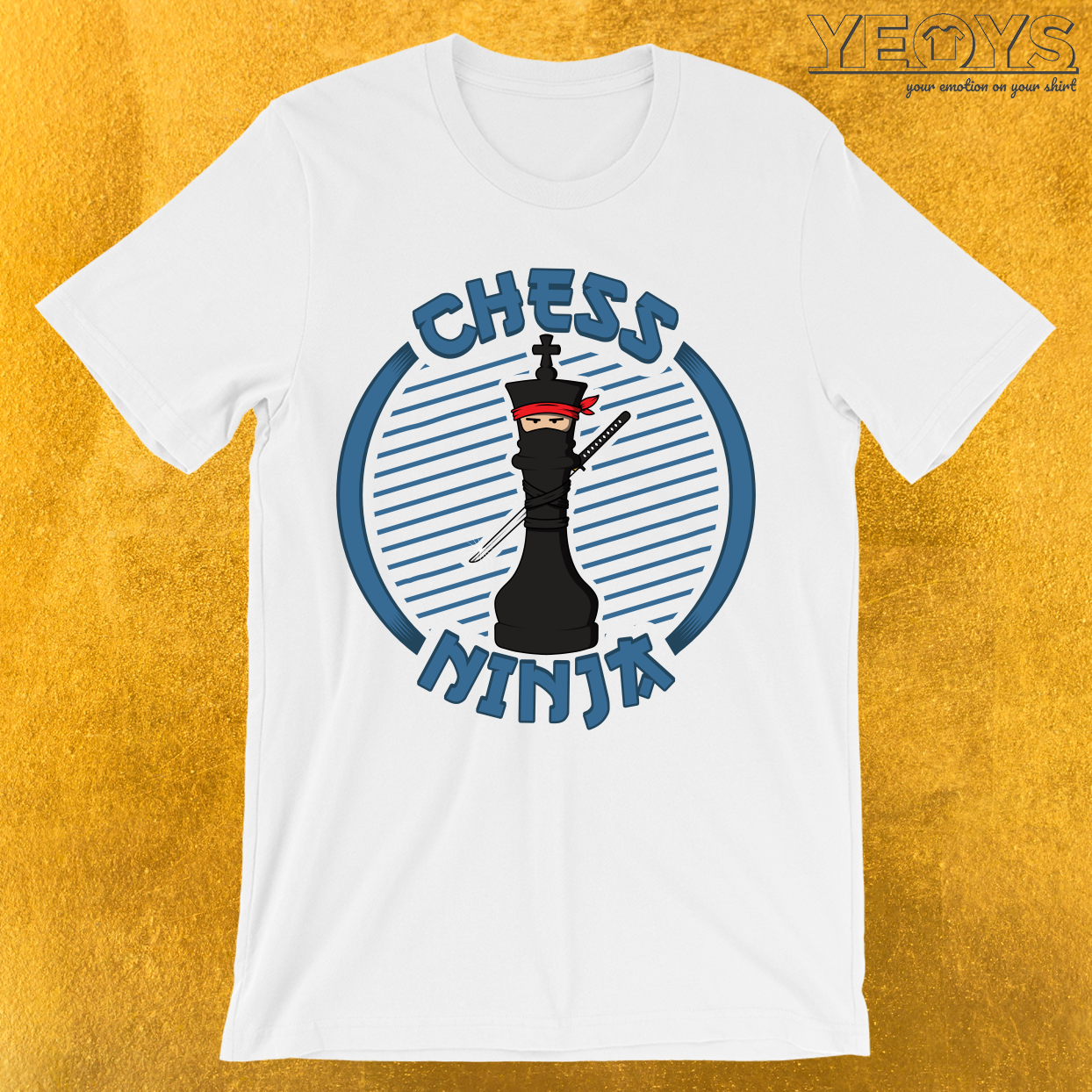 Chess Ninja Fighting King Figure T-Shirt