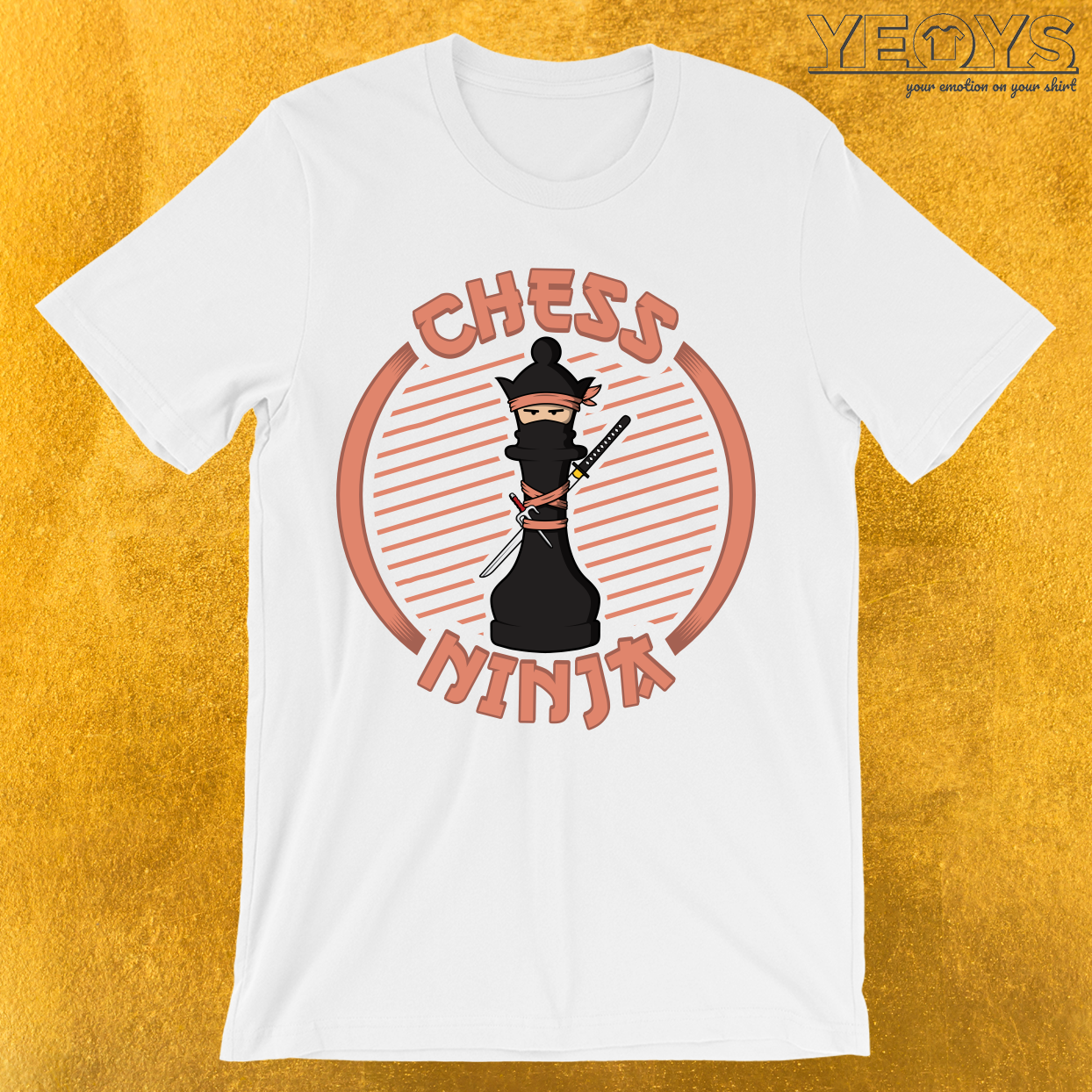 Chess Ninja Fighting Queen Figure T-Shirt