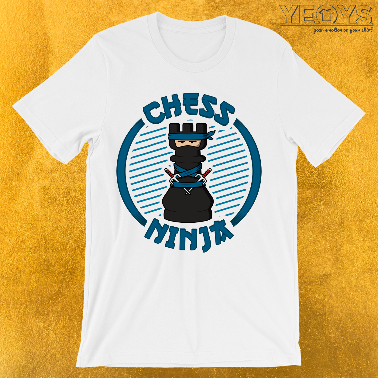 Chess Ninja Fighting Rook Figure T-Shirt