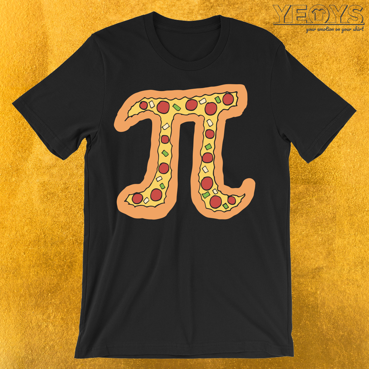 Pizza Pi Funny Visual Math Pun T-Shirt