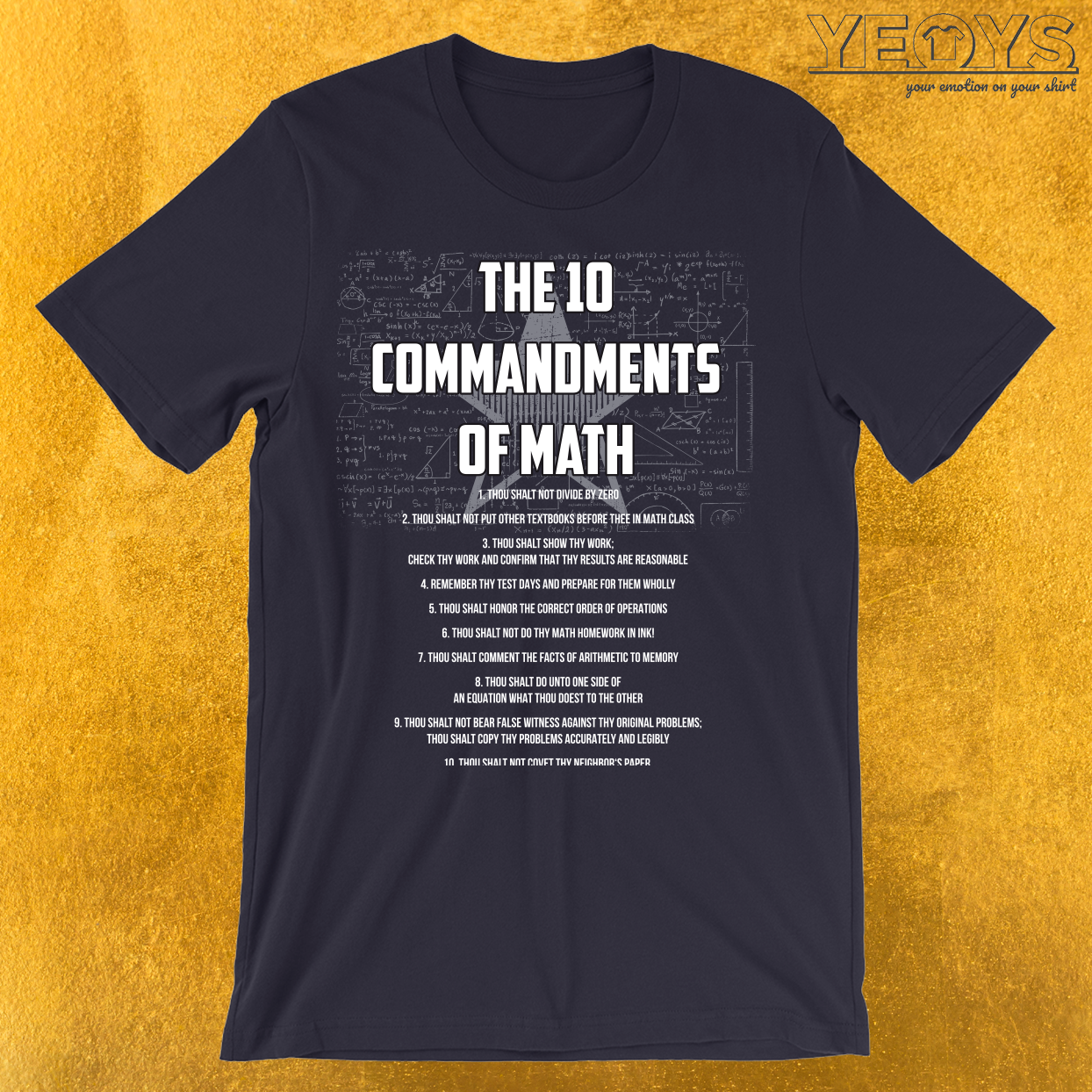 The 10 Commandments Of Math T-Shirt