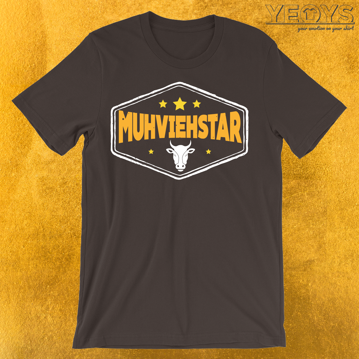 Muhviehstar Lustiges Wortspiel T-Shirt