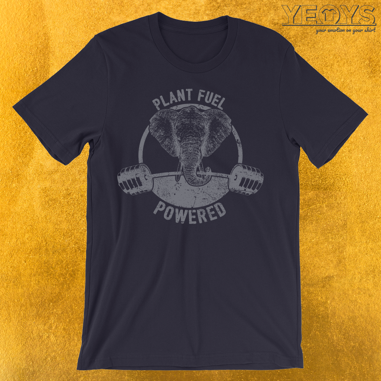 Plant Fuel Powered Vegan Elephant T-Shirt
