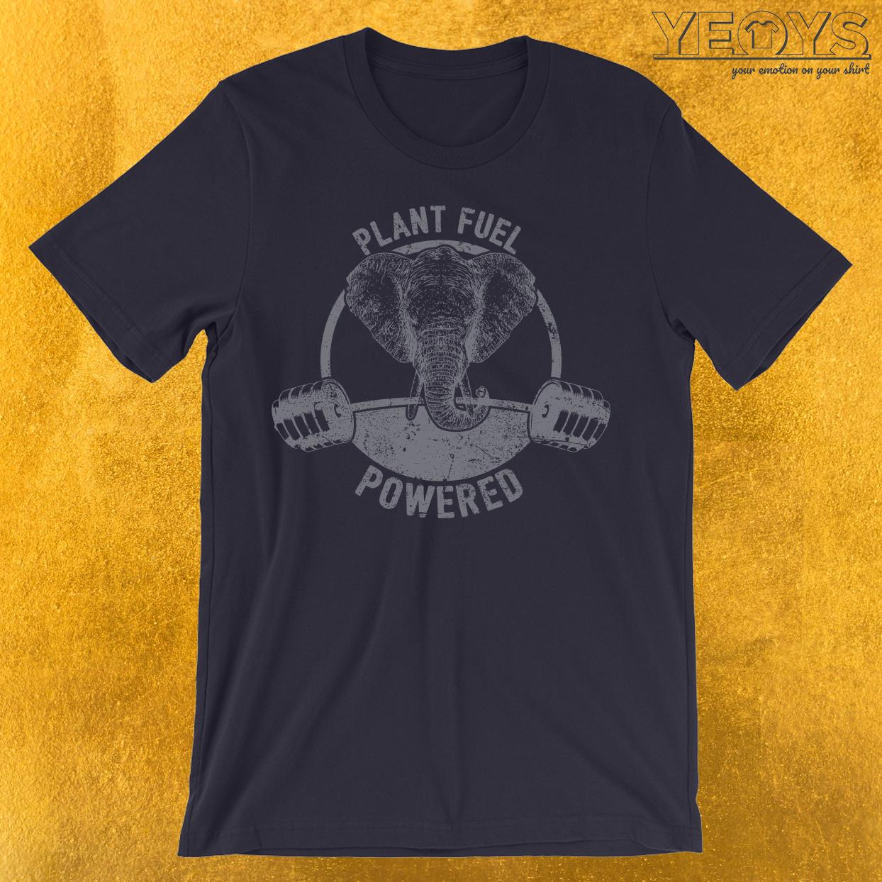 Plant Fuel Powered Vegan Elephant T-Shirt