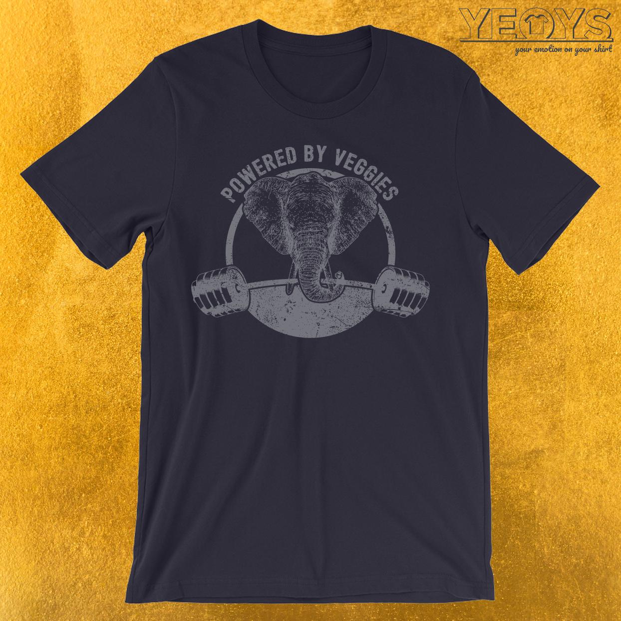 Powered By Veggies Vegan Elephant T-Shirt