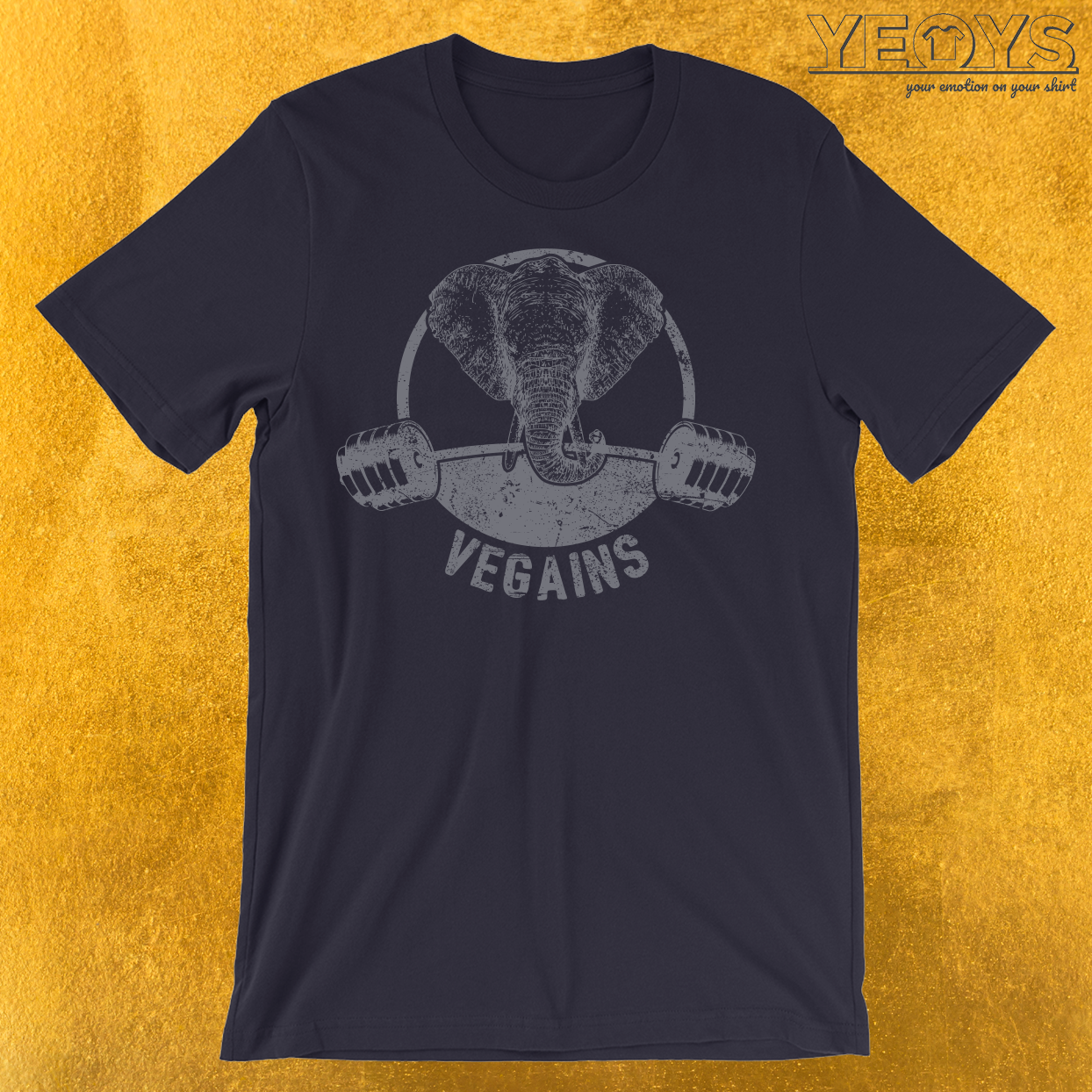 Vegains Vegan Elephant T-Shirt