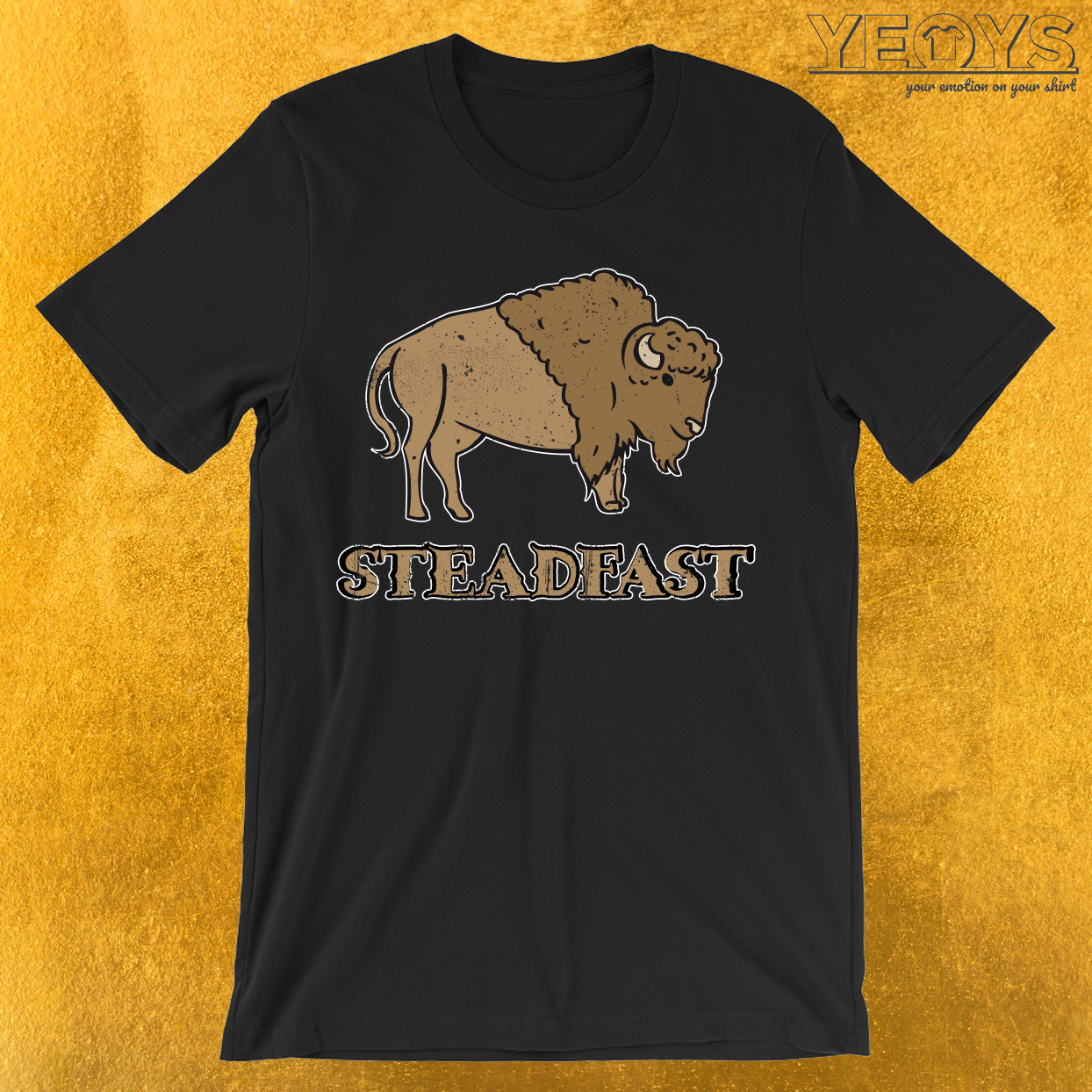 Steadfast Bison Buffalo T-Shirt