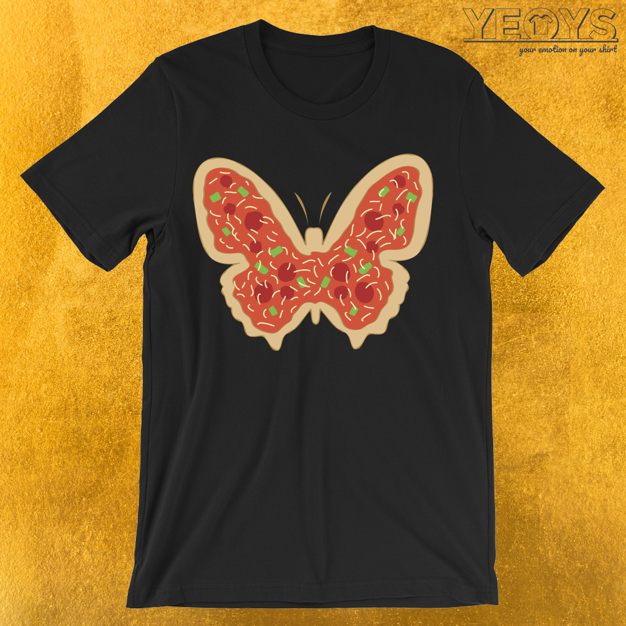 Pizzatterfly Pizza Butterfly T-Shirt