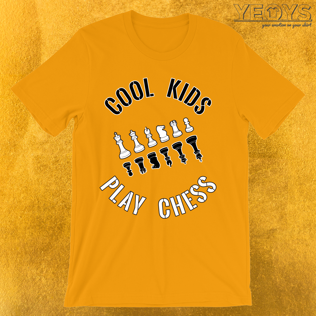 Cool Kids Play Chess All Pieces T-Shirt
