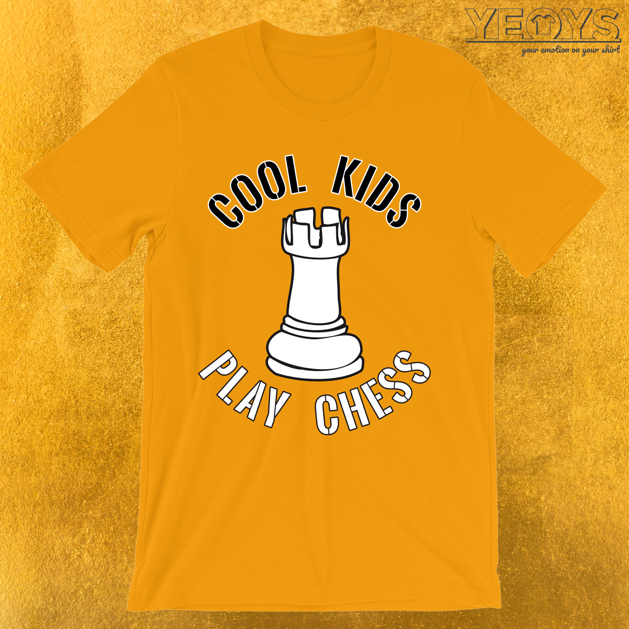 Cool Kids Play Chess Rook Piece T-Shirt