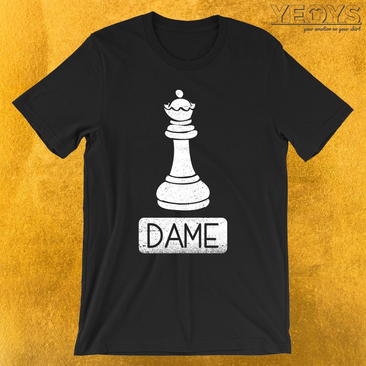 Schachfigur Dame T-Shirt